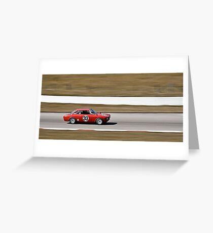 Red Alfa Romeo GTA Mosport Racing Greeting Card