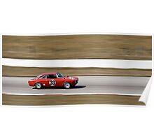 Red Alfa Romeo GTA Mosport Racing Poster
