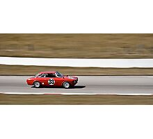 Red Alfa Romeo GTA Mosport Racing Photographic Print