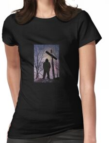 Prayer at sunrise Womens Fitted T-Shirt