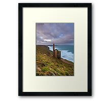 Wheal Coates tin mine Framed Print