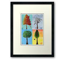 Seasonal Trees Framed Print