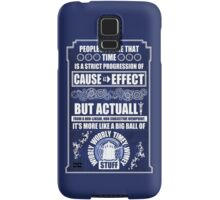 Doctor Who - Blink - People assume that time is a strict progression of cause to effect (WoodTexture) Samsung Galaxy Case/Skin