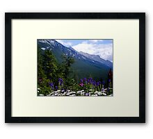 When the Mountain Sings Framed Print