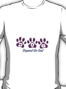 Purple DOG - Depend on God T-Shirt