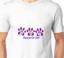 Purple DOG - Depend on God Unisex T-Shirt