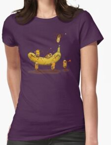 Monkeys are nuts Womens Fitted T-Shirt