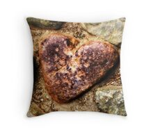 Heart of Stone on the Mount Throw Pillow