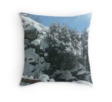 beautiful hillside Throw Pillow