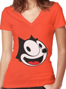 Felix The Cat !! Women's Fitted V-Neck T-Shirt