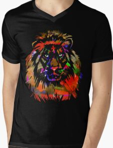Lion Mens V-Neck T-Shirt
