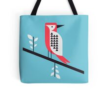 Woodpecker in blue Tote Bag