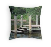 Steps To The Water Throw Pillow