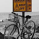 Danger - Keep Off - Cycling can seriously damage your health by Sunnymede