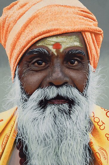 Sadhu - Acrylic Painting by Scotty Simpson