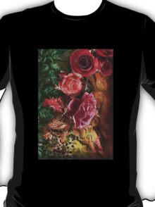 Background with flowers . T-Shirt