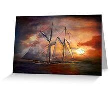 Singing sails...... Greeting Card