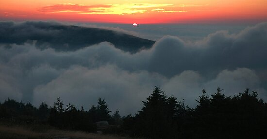 Cadillac Mountain Sunset - Acadia by Stephen Vecchiotti