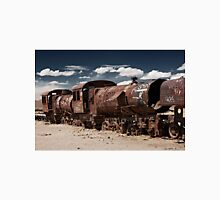 train cemetery at  Salar de Uyuni Unisex T-Shirt