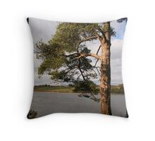 River tree [colour] Throw Pillow
