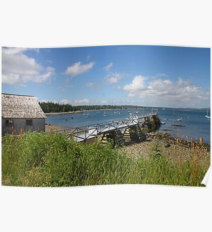 'Town Pier, Hancock, Maine' Poster