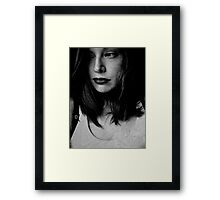 she thought it best to keep an eye on her passing future always. Framed Print