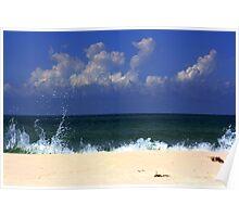 Splashing Wave Poster