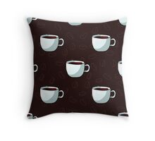 Seamless pattern of cups, hand-draw style. Throw Pillow