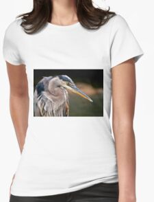 Great Blue Heron Womens Fitted T-Shirt