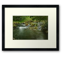 Guide River Swirls Framed Print