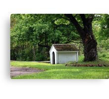 Old Empty Dog House Canvas Print
