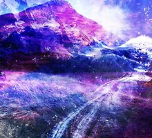 Abstract Mountain Landscape by Jacqui Frank