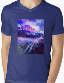 Abstract Mountain Landscape Mens V-Neck T-Shirt