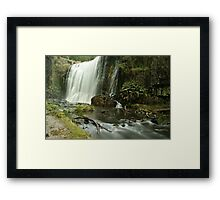 Guide Falls West Ridgley Framed Print
