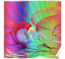 Be Happy -  Abstract35 Art + Products Design  Poster