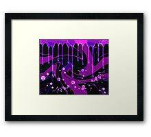 Drips and Swirls Framed Print