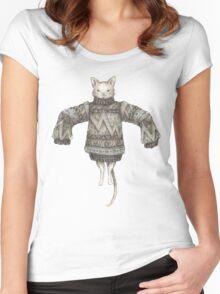 Sweater Puss T-Shirt Women's Fitted Scoop T-Shirt