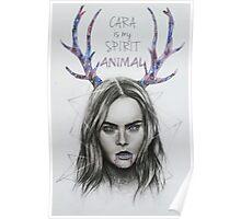 CARA DELEVINGNE ILLUSTRATION Poster