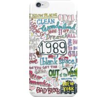 1989- Taylor Swift iPhone Case/Skin