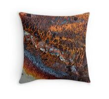 Rust Abstract-674 Throw Pillow