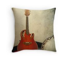 Mandolin and Banjo Throw Pillow