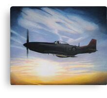 tuskeegee sunset-tuskeegee airmen series Canvas Print