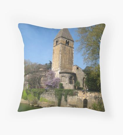 Cruising by  - Saone River France Throw Pillow