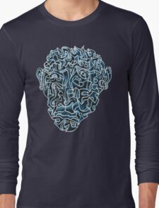 Abstract Head (self portrait) Long Sleeve T-Shirt