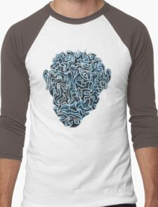 Abstract Head (self portrait) Men's Baseball ¾ T-Shirt