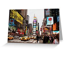 time square. Greeting Card
