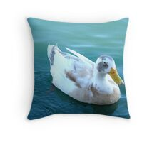 """The odd ball Duck"" Throw Pillow"