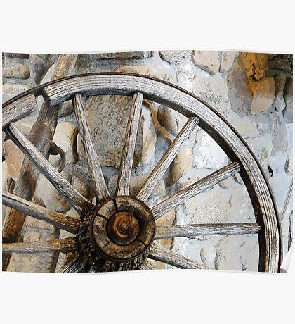 Wagon Spare Wheel Poster