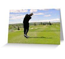 Golf Swing G Greeting Card