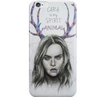 CARA DELEVINGNE ILLUSTRATION iPhone Case/Skin